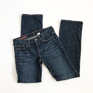 J. Crew Hip Slung Denim Jeans Straight Leg Size 27